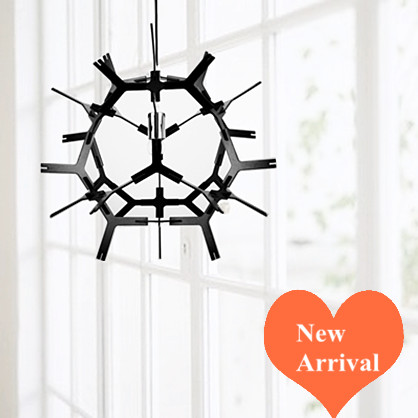 Modern brief art black ply-wood chips pendant lights Handmade E27 LED lamp indoor lamp for cafe&bar&stairs&corridor&porch BT283 2016 creative novelty blue shade ply wood chips chandelier e27 led floral lamp indoor lamp for stairs