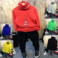 2016 new winter coat color shirt boy turtleneck candy color T-shirt free shipping