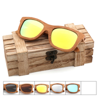 MEEROWN Bamboo Wood Polarized Sunglasses For Women Vintage Mirror Eyeglasses UV400 Outdoor Driving Sun Glasses Ladies