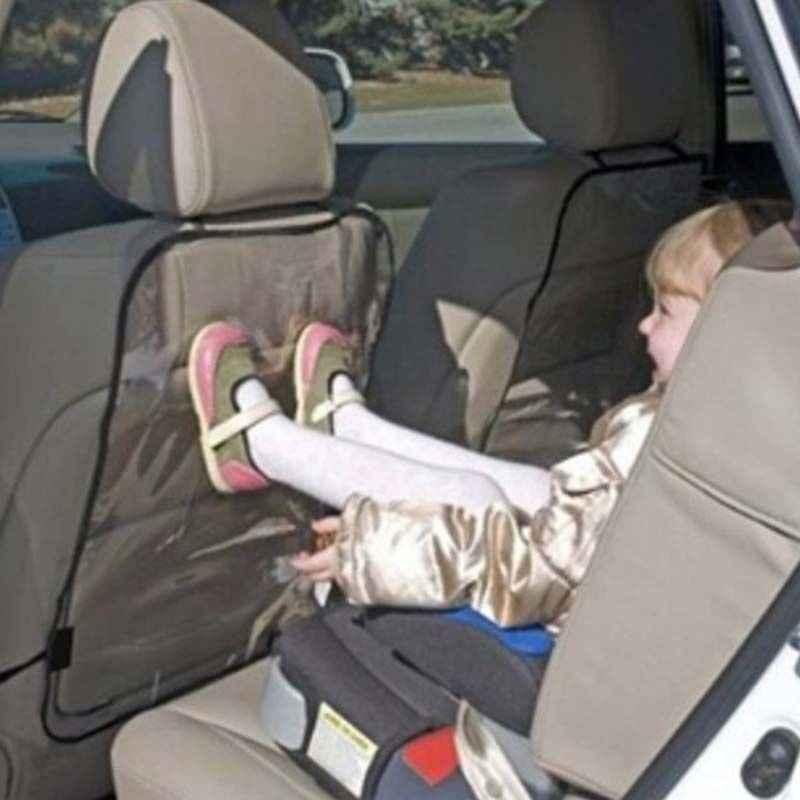 Cubierta trasera del asiento del coche Protector de la cubierta de la silla de Kick Clean antiescalonada sucia para los niños cubierta trasera de la silla del coche negro azul