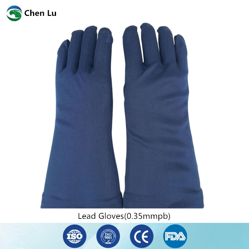 Free Shipping X-ray Protective 0.35mmpb Lead Gloves Hospital/factory/laboratory Nuclear Radiation Protection Medical Accessories