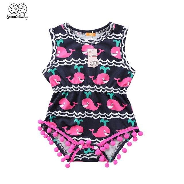 16d78bed6 Cotton Shark Printed Bodysuit For Boys Girls Newborn Baby Girl Boy ...