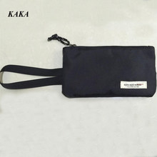 KAKA Hot Women Clutch Bag Simple Oxford Wallets Fashion Wristlet Change Phone Purse Handbag Black Brand Bags X770(China)