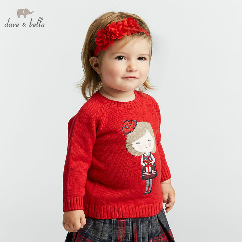 DB8433 dave bella autumn infant baby girls fashion top kids toddler pillover children boutique knitted sweater бэкон ф новый органон