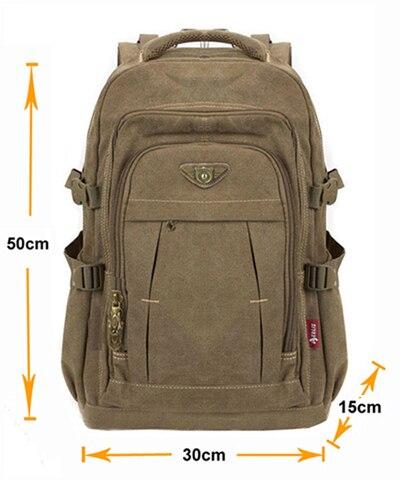 homem mochila de lona mochila Backpack Usage : Daily Backpack