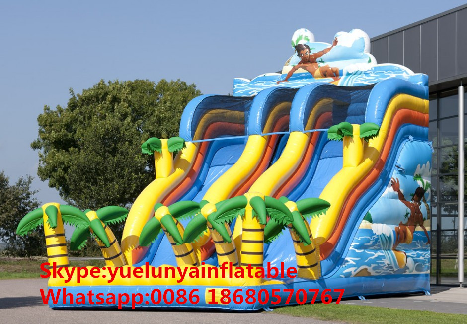 (China Guangzhou) Manufacturers Selling Inflatable Slides,Ocean Surfing Slide KY-695