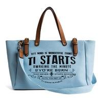 Women Large Canvas Handbag Female Designer Fashion Letter Messenger Shoulder Bags Ladies Crossbody Bag Outdoor Tote Purse SS7361