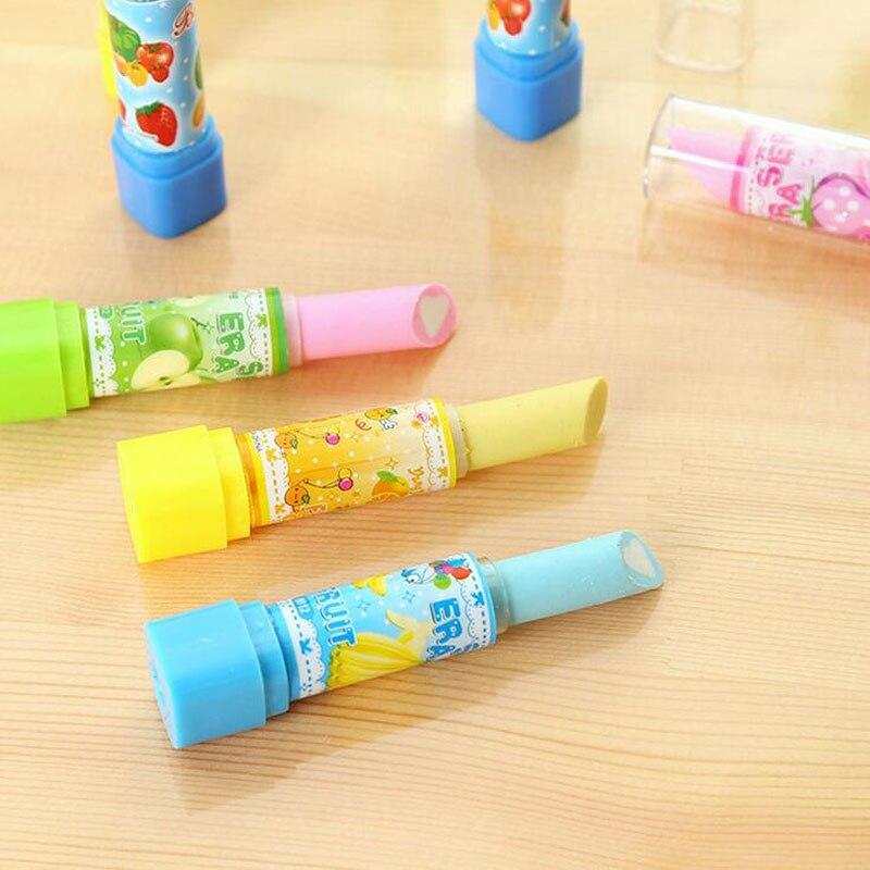 2pcs Kinder Lippenstift Radiergummi Schreibwaren Bürobedarf Radierer Geschenk