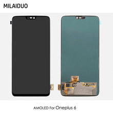 AMOLED/TFT For Oneplus 6 LCD Display OLED Touch Screen Digitizer Full Assembly Replacement Black No Frame 100% Tested(China)
