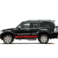 car stickers 2pc car side door grid stripe styling graphic vinyls accessories decals custom for mitsubishi pajero sport