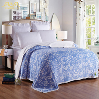 ROMORUS 8 Colors Soft Flannel Blanket On Bed Full Queen Size Double Sides Throw Blankets Bed