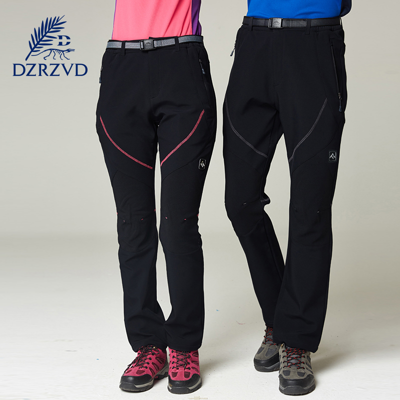 2017 Winter Waterproof Softshell Pants Men Women Ski Trekking Hiking Trousers Men Windproof Pantalones hombre Climbing