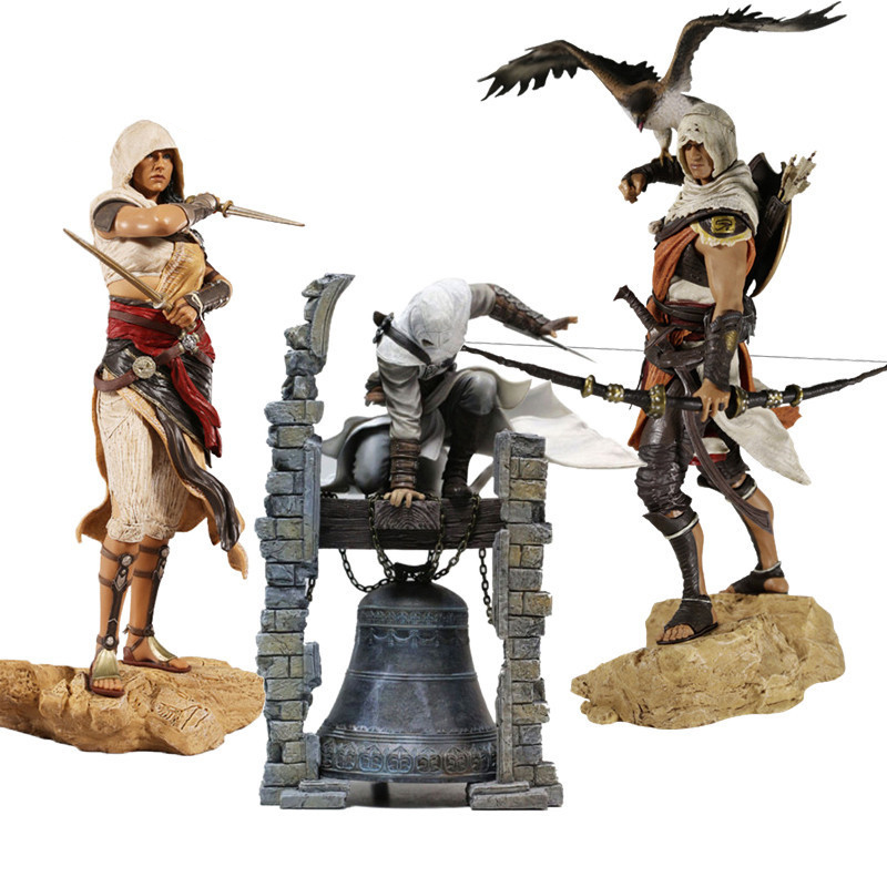 28cm Creed Originis Bayek Aya Altair The Legendary Assassin PVC Action Figure Collectible Model Toys Gifts