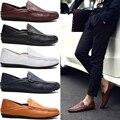 Мужчины вскользь кожаные оксфорд обувь высокого качества из натуральной кожи коричневый бездельник для мужчин люксовый бренд мужская drive обувь