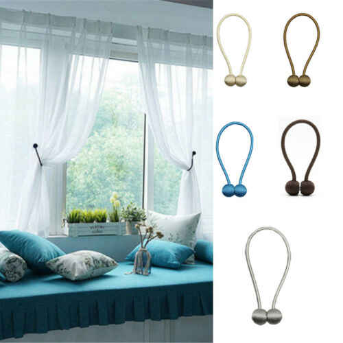 1Pc Pearl Magnetic Ball Curtain Tie Rope Backs Holdbacks Buckle Clips Accessory Rods Accessoires Hook Holder Home Decorations