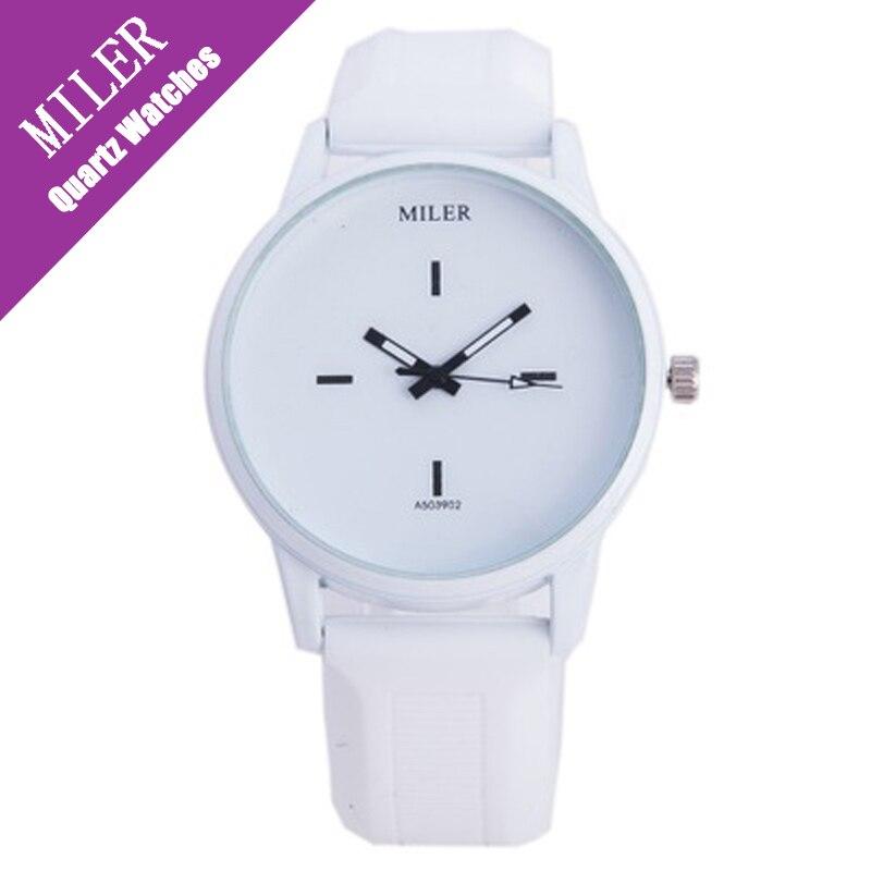 Hot Sale Miler Watch Women 2016 New Simple Black Withe Jelly Silicone Quartz Hand Unisex Design