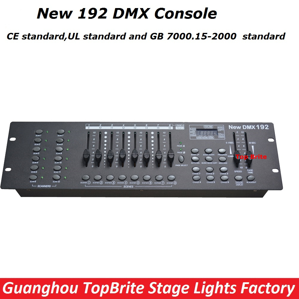 High Quality NEW 192 DMX Console Stage Lighting DJ Equipments DMX Controller For LED Par Moving Head Beam Lights Free Shipping free shipping new dmx240 dmx controller stage lighting dj equipment dmx console for led par moving head spotlights dj controller