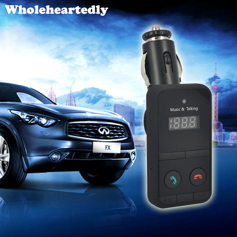 MP3 MP3 Player Audio Audio Bluetooth FM Transmetues Wireless FM Modulator Kit Car DandsFree USB Mbushës LCD për iPhone Samsung