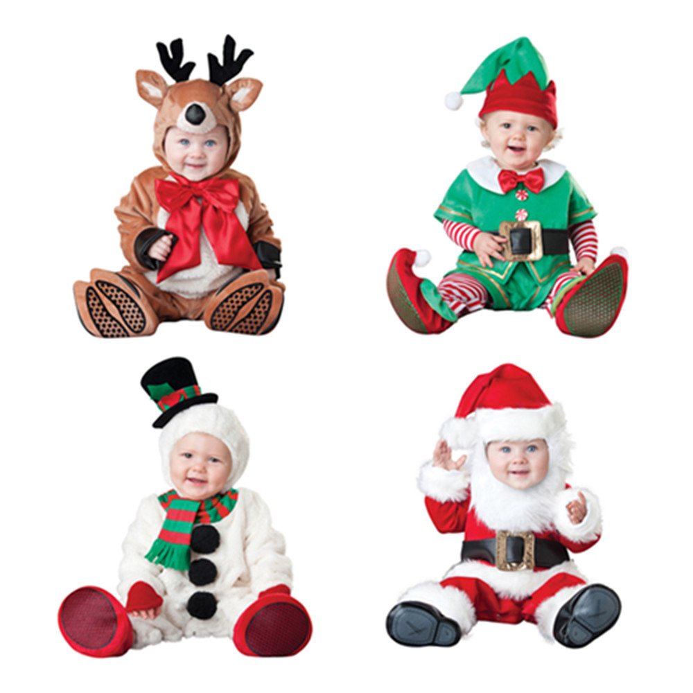 Women's Costumes 2018 Baby Rompers Newborn Baby Clothes Animal Santa Snowman Elk Elf Carnival Christmas Halloween Costume Jumpsuit For Kids Non-Ironing