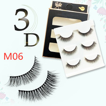 New 3 pairs natural false eyelashes fake lashes long makeup 3d mink extension eyelash for beauty