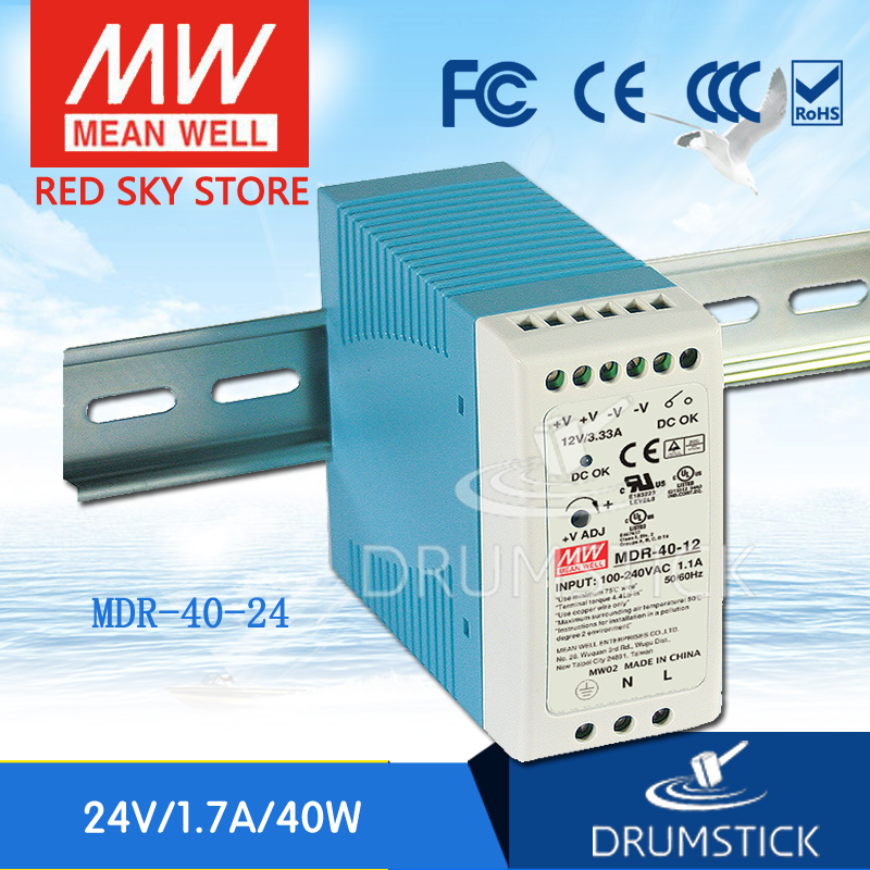 Steady MEAN WELL MDR-40-24 24V 0.83A MDR-40 24V 39.8W Single Output Industrial DIN Rail Power Supply
