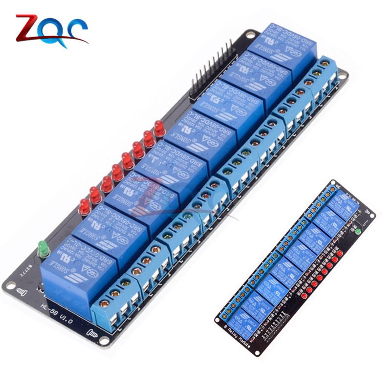 5V 8 Channel Relay Board Module Optocoupler LED for Arduino PiC ARM AVR Raspberry Pi