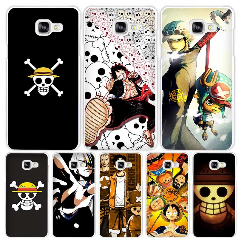 One Piece strong world Hard White Coque Shell Case Cover Phone Cases for Samsung Galaxy A3 A5 A7 2016 2017 A8 A9