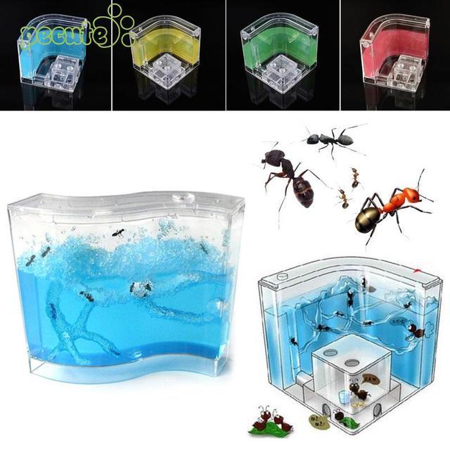 Муравей дом пластиковый контейнер дети Террариум для насекомых игрушка для маленьких домашних животных образования
