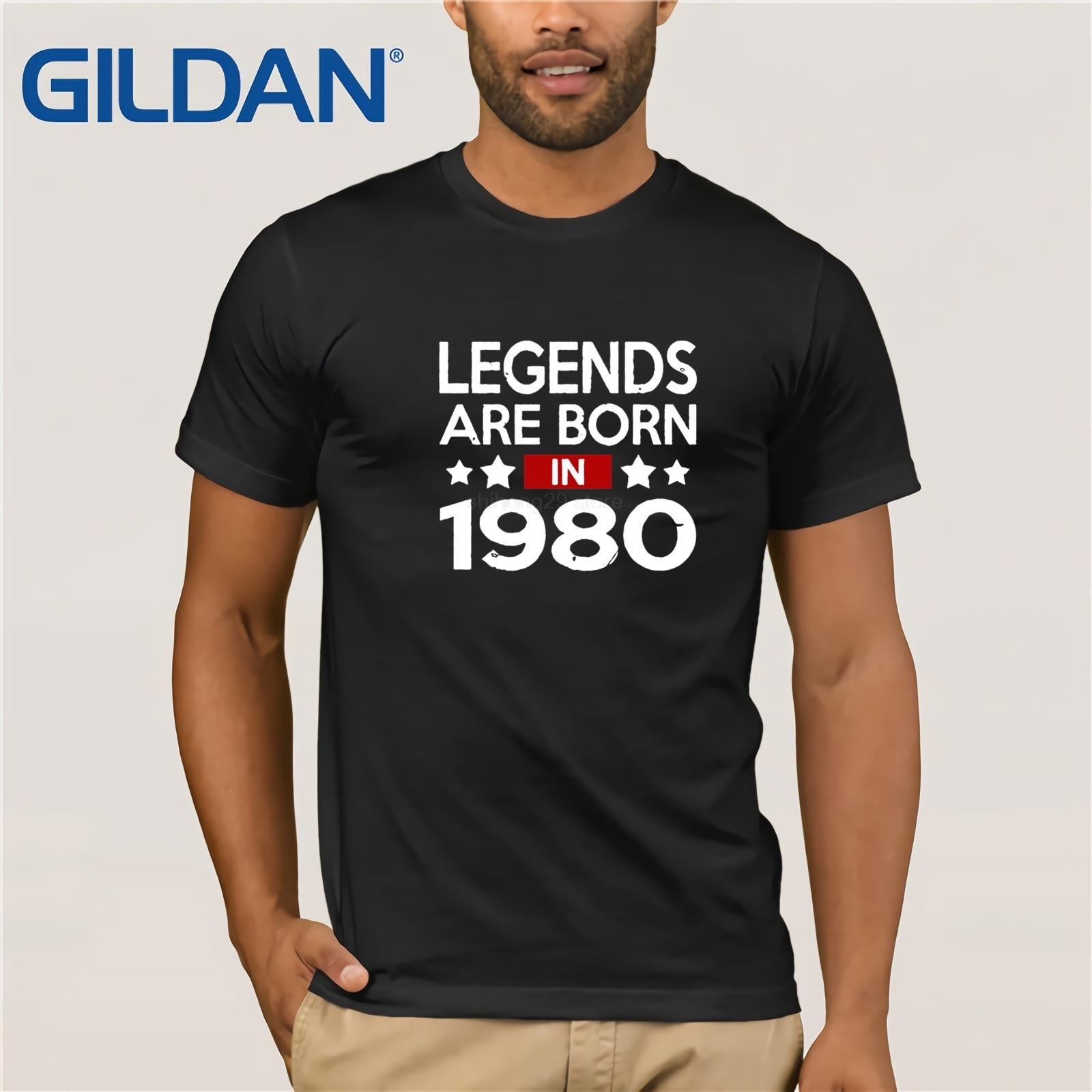 2019 Camiseta Vintage Shirt Legends Are Born In 1980 T Shirt Men Men Unisex T-Shirt 80s Retro Brand Clothing Tops Hipster Tees