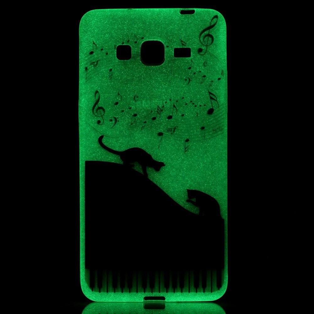Hot! Fashion Fluorescence TPU Slim Printed Cases For Samsung Galaxy J3 J310F J3109 J3000 Luminous Soft Silicon Phone Case