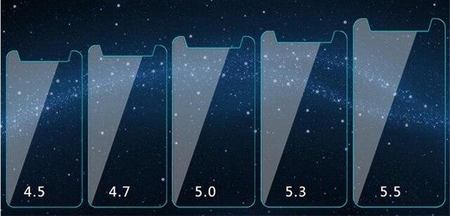 HD 2.5D 0.28mm Ultra cienka uniwersalna folia ze szkła hartowanego dla 3.5 4.3 4.5 4.7 5.0 5.3 5.5 5.7 6.0 cal osłona ekranu przedniego Film