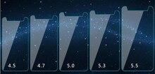 Película de vidrio templado Universal Ultra delgada HD 2.5D de 0,28mm para 3,5, 4,3, 4,5, 4,7, 5,0, 5,3, 5,5, 5,7 pulgadas, película protectora de pantalla frontal