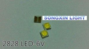 Image 2 - 2000 Uds retroiluminación LED de alta potencia LED 0,8 W 2828 6V blanco frío 43LM GM2CC3ZH2EEM aplicación de TV