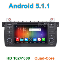 7 inch Quad Core Android 5.1.1 Car DVD Player for BMW 3 Series E46 M3 Rover 75 MG ZT with Radio Bluetooth Wifi GPS