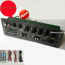 DC12v or AC110-220V Outdoor square dance sound board  karaoke bars box DIY board with AUX input  support SD card  U disk