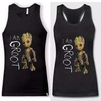 I Am Groot Guardians of the Galaxy 2 Baby Groot Womens Mens Black Sleeveless Singlets New Fashion Summer Tank Tops Plus Size