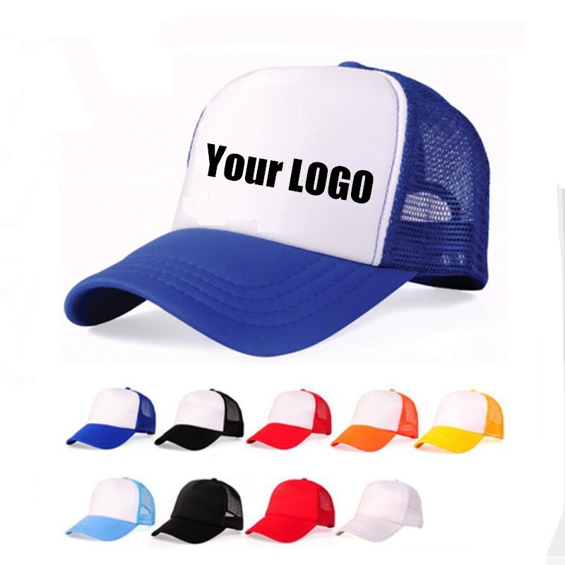Factory Price! DIY OEM Custom LOGO Cheap 100% Polyester Men Women Baseball Cap Blank Mesh Baseball Hat Snapback Trucker Hat кухонная мойка omoikiri daisen 77 pa artgranit пастила 4993626