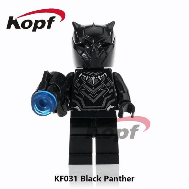 KF031 Single Sale Super Heroes Black Panther Crossbones Batman Red Hulk Bricks Building Blocks Learning For Children Gift Toys single sale super heroes red yellow deadpool duck the bride terminator indiana jones building blocks children gift toys kf928