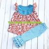 Hot Sell Summer Dress Remake Wolf Design Cotton Girl Clothes Outfits