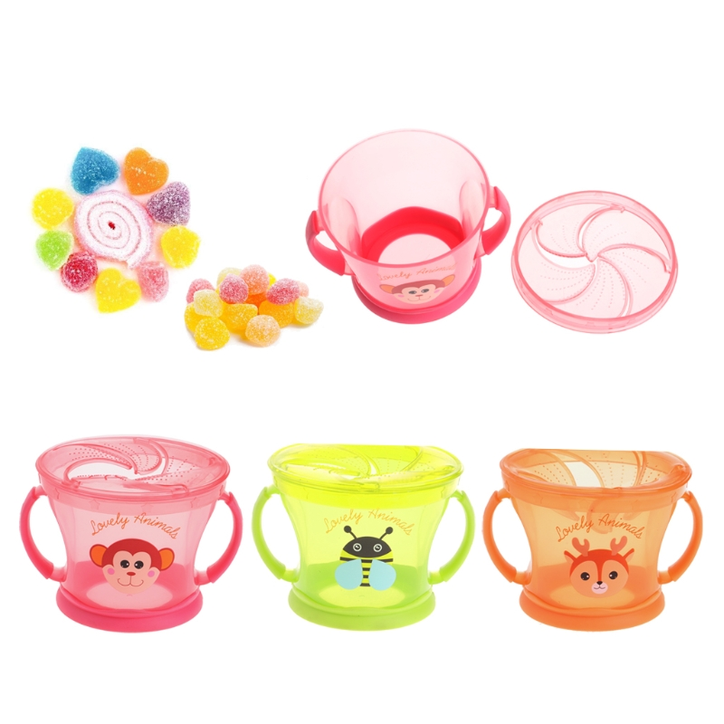 2018 Soft Food Bowl Infant Children Snack Spilled Cup Leak Proof Baby Snack Box Container JUN6_17