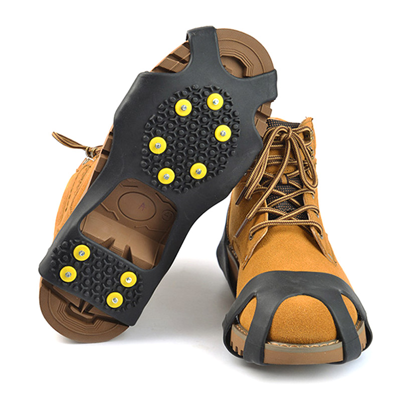Newly 1 Pair Ice Snow Grips Cleat Over Shoe Boot Rubber Spikes Anti Slip Studs Crampons Stretch Footwear 19ing
