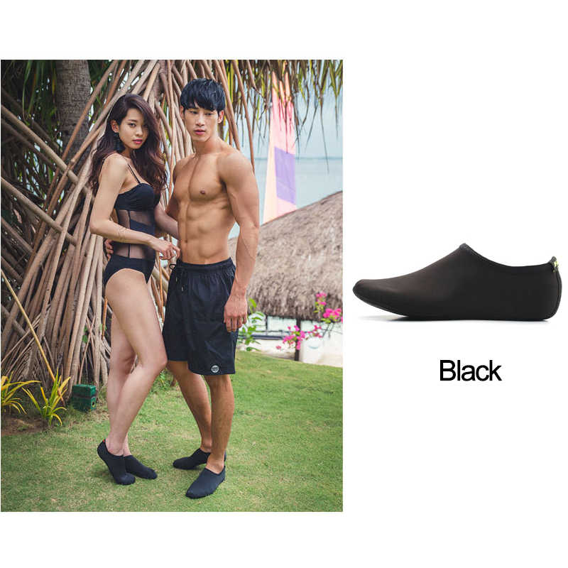 Erkekler kadınlar su ayakkabısı, yüzme ayakkabı düz renk yaz Aqua plaj ayakkabısı, çorap sahil Sneaker terlik erkekler için, zapatos hombre