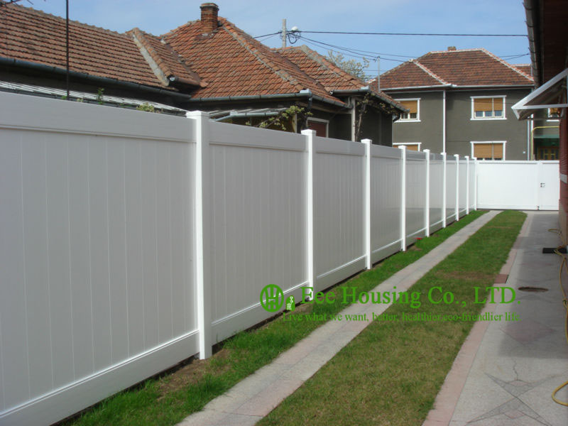 ФОТО White Color PVC Privacy Fence, House Private Fence, American Style Fence For Sale, Outdoor Villa Fence