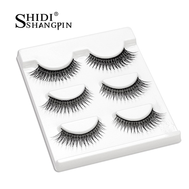 Eye Lashes Fashion False Eyelashes Pairs Handmade 3 Crisscross Fake sQrhCtd