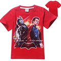 Superman batman war Male children 4 to 12 years old Pure cotton children's clothing wholesale children's short sleeve T-shirt