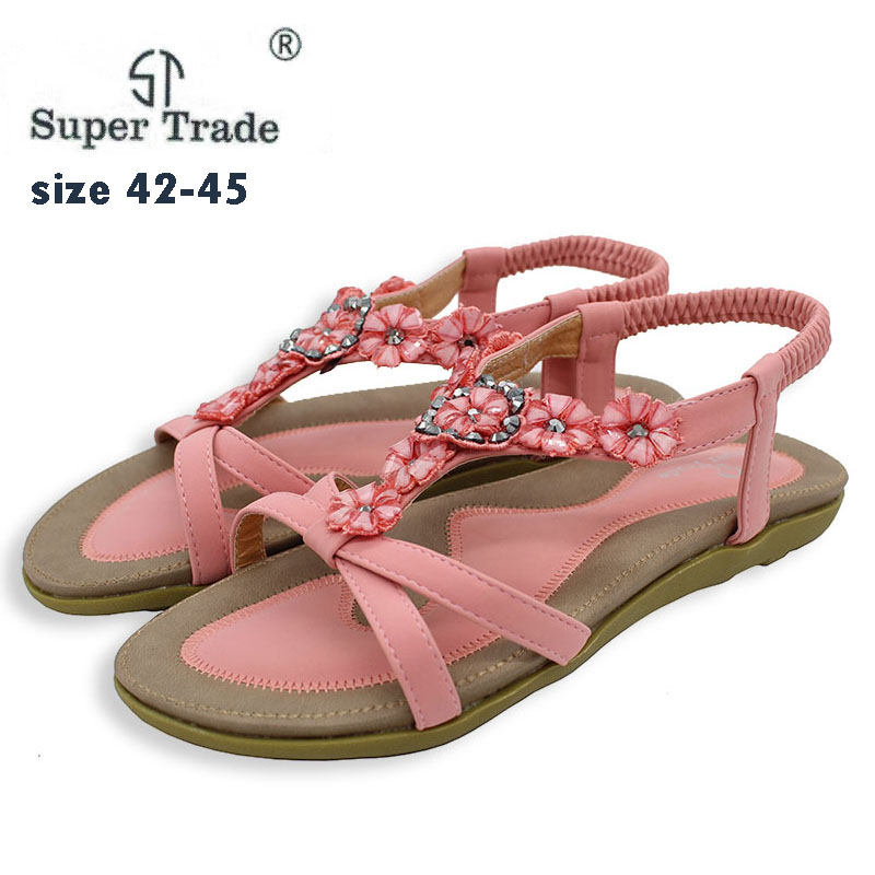 Summer Women Sandals EU35-45 Gladiator Sandals Women Shoes Bohemia Flat Shoes Sandalias Mujer Ladies Shoes New Flip Flops 527-4 women sandals summer flip flops women s beach sandals women shoes bands flat shoes gladiator sandalias mujer driving shoes b139