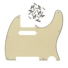 shipping.3Ply 8 отверстий Накладка для гитары для Telecaster Стиль Запчасти для гитары, w/25 шт покрытые серебром винты(крем Цвет
