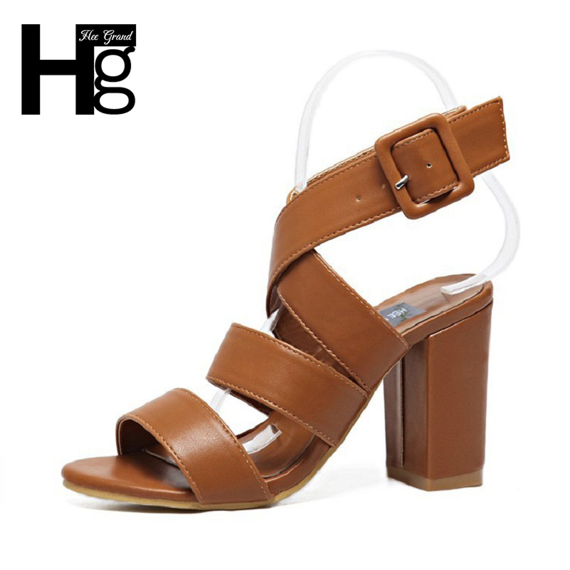 HEE GRAND Waterproof Woman Shoes 2017 New Summer Open Toe Fashion Platform Sandals For Women Size 35-40 XWZ3518 hee grand casual wedges sandals 2017 summer beach women shoes platform buckle comfort creepers fashion shoes woman xwz3812