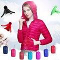 Mulheres Com Capuz de Down Jacket 2016 Mulheres de Inverno Para Baixo Jaquetas CX062 Fina Ultraleve Quente Casaco Outerwear Para Meninas Das Senhoras 11 Cores
