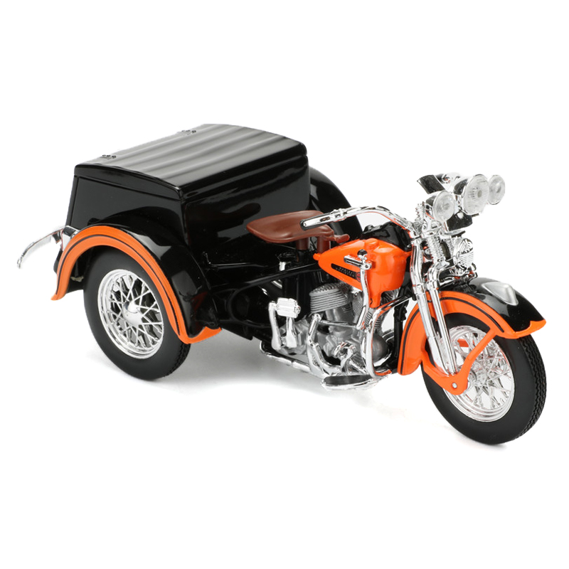 Maisto 1:18 Scale Motorcycle Toy, Diecast & ABS 1947 Servi-Car Model, Simulation Harley Motorbike Car Toy, Kids Toys, Brinquedos